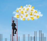 Nubes con las lámparas Imagen de archivo