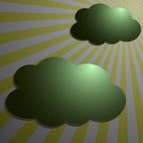 Nubes con los rayos de la parte radial de la luna libre illustration