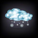 Nubes con nieve en oscuridad stock de ilustración