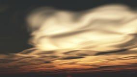 nubes corrientes del timelapse 4k en la salida del sol, viniendo a distancia, Dawn Scene almacen de metraje de vídeo
