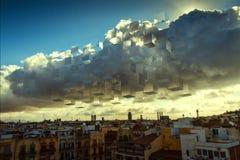 Nubes a cuadros Imagen de archivo libre de regalías