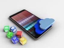 nubes 3D Foto de archivo libre de regalías