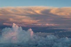 Nubes de arriba Fotos de archivo