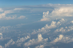 Nubes de arriba Foto de archivo