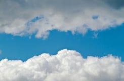 Nubes de cúmulo Fotos de archivo