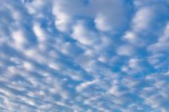 Nubes de cirro en cielo azul Imagenes de archivo