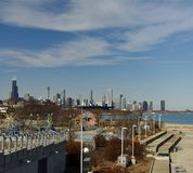 Nubes de cirro sobre Chicago Fotos de archivo libres de regalías