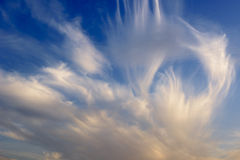 Nubes de cirroestrato fotos de archivo libres de regalías