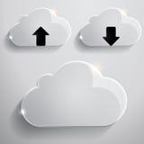 Nubes de cristal Foto de archivo