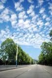 Nubes de la caballa Fotos de archivo