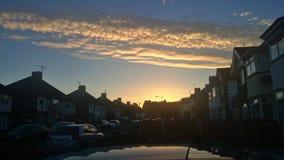 Nubes de la calle Imágenes de archivo libres de regalías