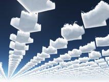 Nubes de la flecha Foto de archivo libre de regalías