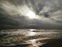 Nubes de la fotografía de la playa Fotos de archivo