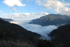 Nubes de la garganta de Taroko Foto de archivo libre de regalías