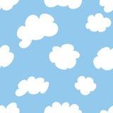 Nubes de la historieta Imágenes de archivo libres de regalías