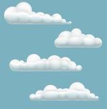 Nubes de la historieta Fotografía de archivo