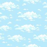 Nubes de la historieta Modelo inconsútil Foto de archivo libre de regalías