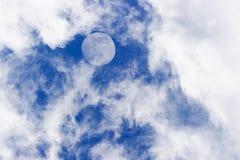 Nubes de la luna Imagen de archivo libre de regalías
