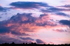 Nubes de la mañana Foto de archivo libre de regalías