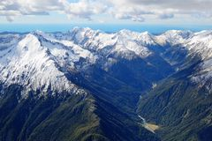 Nubes 2 de la montaña Imagen de archivo