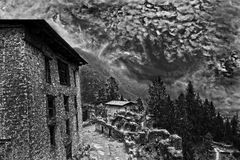 Nubes de la monzón Fotografía de archivo libre de regalías