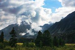 Nubes de la nieve Imagen de archivo