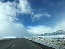Nubes de la nieve Imágenes de archivo libres de regalías