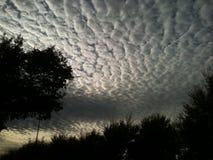 Nubes de la ondulación imagenes de archivo