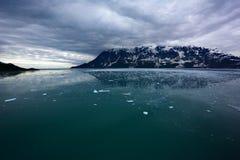 Nubes de la oscuridad del campo de hielo Imágenes de archivo libres de regalías