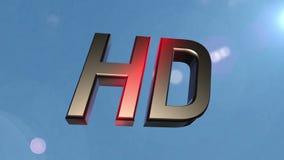 Nubes de la parte posterior del icono de HD almacen de metraje de vídeo