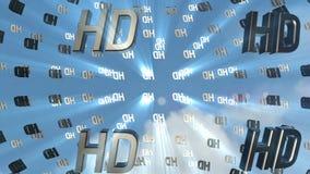 Nubes de la parte posterior del icono de HD metrajes