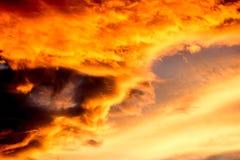 Nubes de la puesta del sol Fotografía de archivo