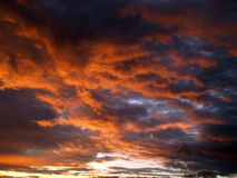 Nubes de la puesta del sol Imágenes de archivo libres de regalías