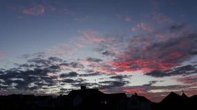 Nubes de la puesta del sol Imagen de archivo