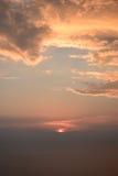 Nubes de la puesta del sol Imagen de archivo libre de regalías