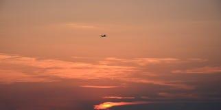 Nubes de la puesta del sol Foto de archivo libre de regalías