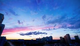 Nubes de la puesta del sol del cielo Imágenes de archivo libres de regalías