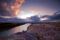 Nubes de la puesta del sol en parque de la bahía del arco iris Imagen de archivo libre de regalías