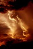 Nubes de la tarde Fotografía de archivo libre de regalías