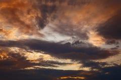 Nubes de la tarde Foto de archivo libre de regalías