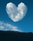 Nubes de la tarjeta del día de San Valentín Fotografía de archivo libre de regalías