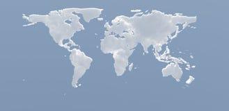 Nubes de la tierra del planeta Foto de archivo libre de regalías