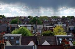 Nubes de lluvia Imágenes de archivo libres de regalías