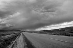 Nubes de lluvia Imagen de archivo libre de regalías