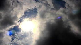 Nubes de lluvia, comienzo de la lluvia Timelapse almacen de video