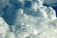 Nubes de lluvia gruesas Fotografía de archivo