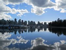 Nubes de lluvia Vancouver foto de archivo