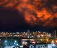 Nubes de Mammatus Foto de archivo libre de regalías