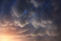 Nubes de Mammatus Fotos de archivo libres de regalías