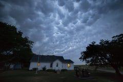 Nubes de Mammatus cerca de Pierce, Nebraska foto de archivo libre de regalías